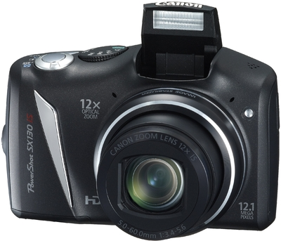Canon Point  Shoot SX130 IS 12 1 MP - Cameras, megapixels - 12.1 Megapixels, built in flash - Yes, lcd screen size - 3 inch
