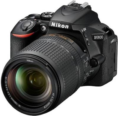 (Nikon D5600 DSLR (24.2 MP) , megapixels - 24.2  Megapixels, built in flash - Auto, Portrait, Child, Close Up, Night Portrait, Party / Indoor, Pet Portrait, Super Vivid, Pop, Photo Illustration, Toy Camera Effect, Auto Flash with Auto Pop-up P, S, A, M, Food, Manual Pop-up with Button Release, lcd screen size - 3.2 inch)