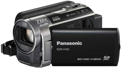 Panasonic Camcorder SDR H101 - Cameras, megapixels - , built in flash - , lcd screen size - 2.7 inch
