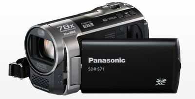 Panasonic Camcorder SDR S71 0 47 MP - Cameras, megapixels - 0.47 Megapixels, built in flash - , lcd screen size - 2.7 inch