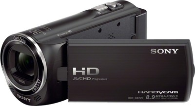 Sony Camcorder HDR CX220E 8 9 MP - Cameras, megapixels - 8.9 Megapixels, built in flash - , lcd screen size - 2.7 inch