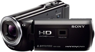 Sony Camcorder HDR PJ380E 8 9 MP - Cameras, megapixels - 8.9 Megapixels, built in flash - , lcd screen size - 3 inch