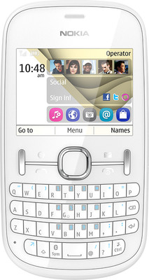 Nokia Asha 201 - Mobiles, ram - 32 MB, internal memory - 10 MB, primary camera - Yes, 2 Megapixel, seconday camera - No, 3G - No, screen - 2.4 Inches LCD, battery - Li-Ion, 1430 mAh, os - Symbian (Series 40)