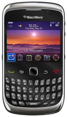 Blackberry Curve 3G 9300 - Mobiles, ram - 256 MB, internal memory - 256 MB, primary camera - Yes, 2 Megapixel, seconday camera - No, 3G - Yes, screen - 2.46 Inches TFT LCD, battery - Li-Ion, 1150 mAh, os - BlackBerry 5 OS