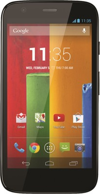 Motorola Moto G - Mobiles, ram - 1 GB RAM, internal memory - 8/16 GB, primary camera - Yes, 5 MP, seconday camera - Yes, 1.3 MP, 3G - 3G, screen - 4.5 inch, battery - 2070 mAh, os - Android v4.4 (KitKat)