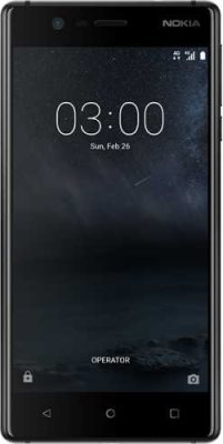Nokia 3 - Mobiles, ram - 2 GB, internal memory - 16 GB, primary camera - 8 MP, seconday camera - 8 MP, 3G - Yes, screen - 5.0 inch, battery - Non-removable Li-Ion 2630 mAh, os - Android 7.0 (Nougat)