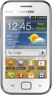 Samsung Galaxy Ace Duos S6802 - Mobiles, ram - 512 MB, internal memory - 3 GB, primary camera - Yes, 5 Megapixel, seconday camera - No, 3G - Yes, 7.2 Mbps HSDPA, screen - 3.5 Inches TFT, battery - Li-Ion, 1300 mAh, os - Android v2.3 (Gingerbread)