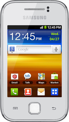 Samsung Galaxy Y S5360 - Mobiles, ram - 290 MB, internal memory - 160 MB, primary camera - Yes, 2 Megapixel, seconday camera - No, 3G - Yes, 7.2 Mbps HSDPA, screen - 3 Inches TFT, battery - Li-Ion, 1200 mAh, os - Android v2.3 (Gingerbread)