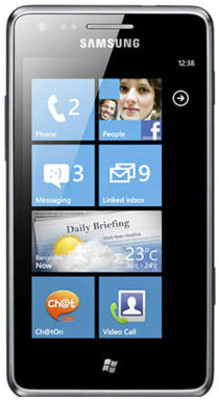 Samsung Omnia M S7530 - Mobiles, ram - 384 MB, internal memory - 4 GB, primary camera - Yes, 5 Megapixel, seconday camera - Yes, 0.3 Megapixel, 3G - Yes, 7.2 Mbps HSDPA, 5.76 Mbps HSUPA, screen - 4 Inches Super AMOLED, battery - Li-Ion, 1500 mAh, os - Windows Phone 7.5 (Mango)